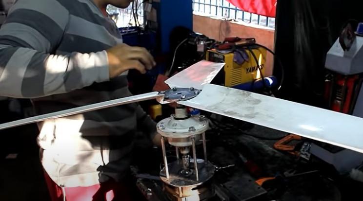 washing machine to fan moutn blade hub