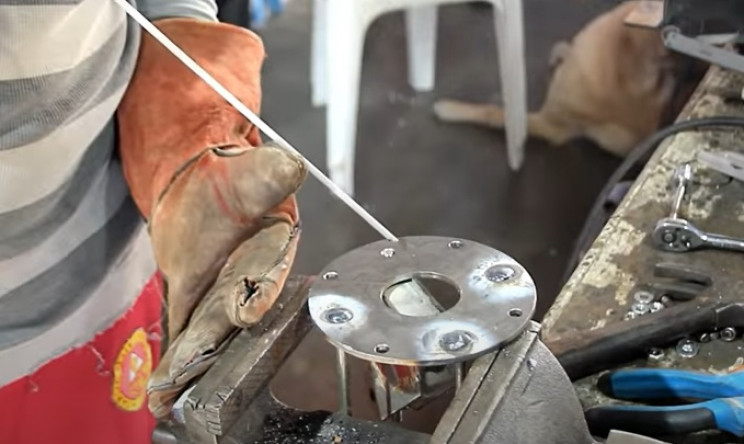 washing machine to ceiling fan weld rods