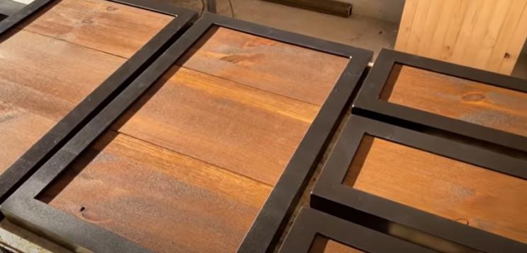 diy workbench doors wood