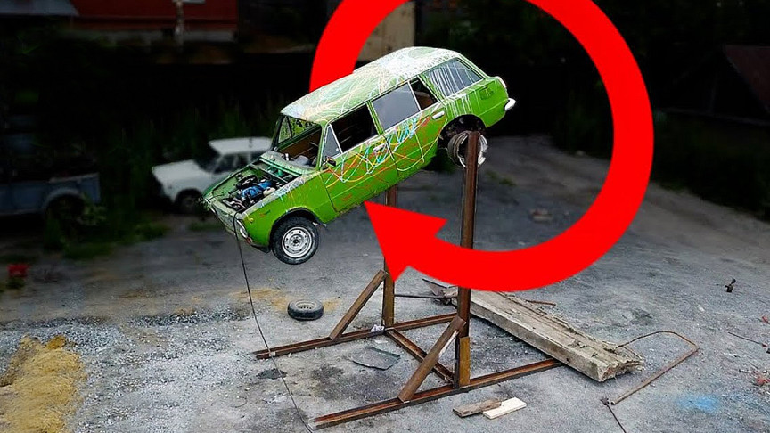Mechanics Test What It Takes To Make A Lada Front Flip