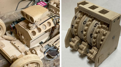 Student Builds Functioning Wooden Odometer for Model Car