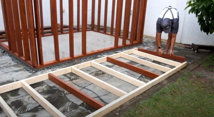 diy shed canopy frame
