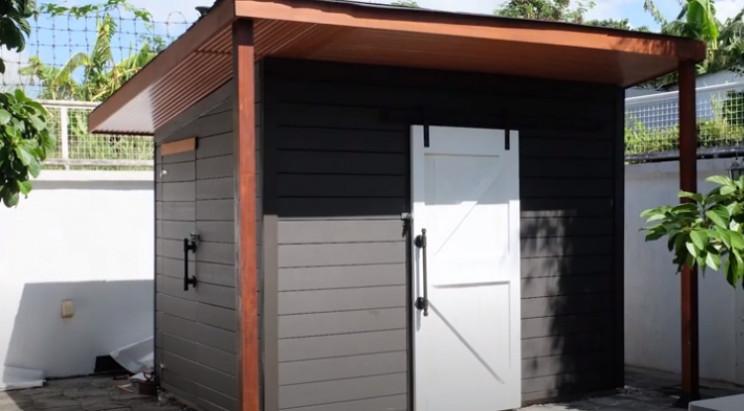 diy garden shed complete