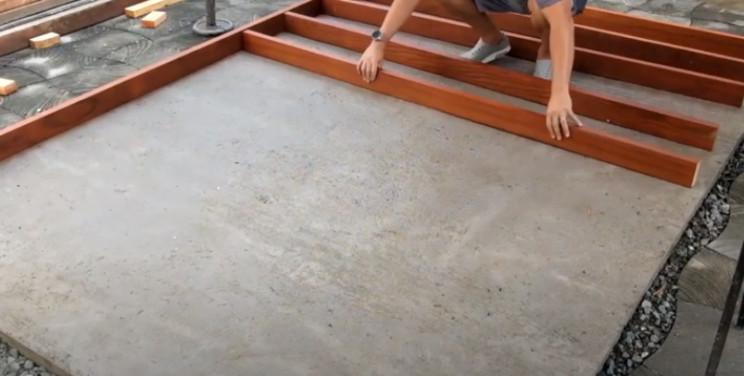 diy garden shed floor joists