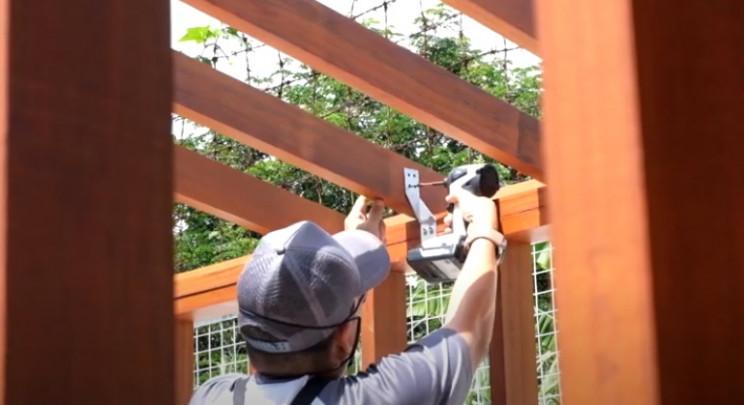 diy garden shed rafter ties