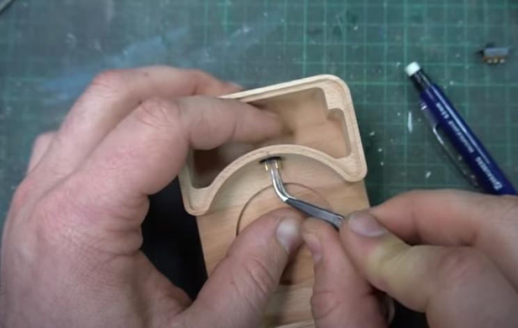 diy watch and dosimeter charing pins