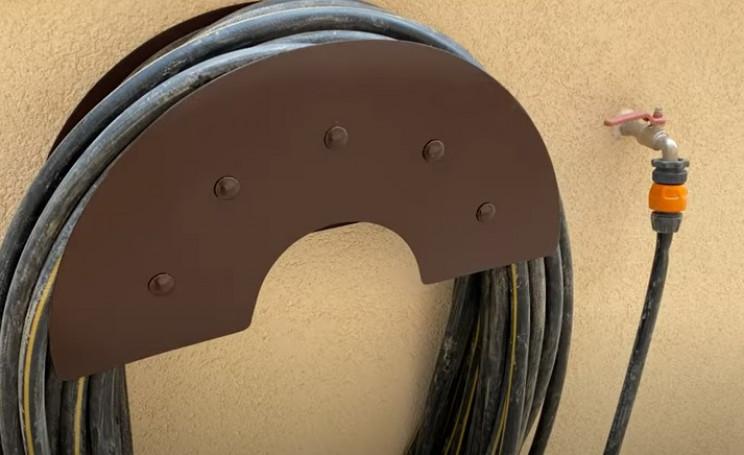 diy metal garden hose holder complete