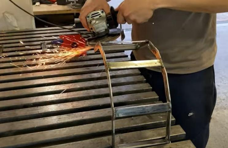 metal hose holder clean welds frame