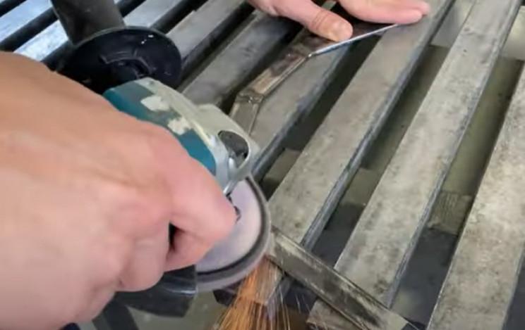 diy metal hose holder clean welds