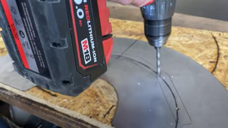 diy metal hose holder drill holes