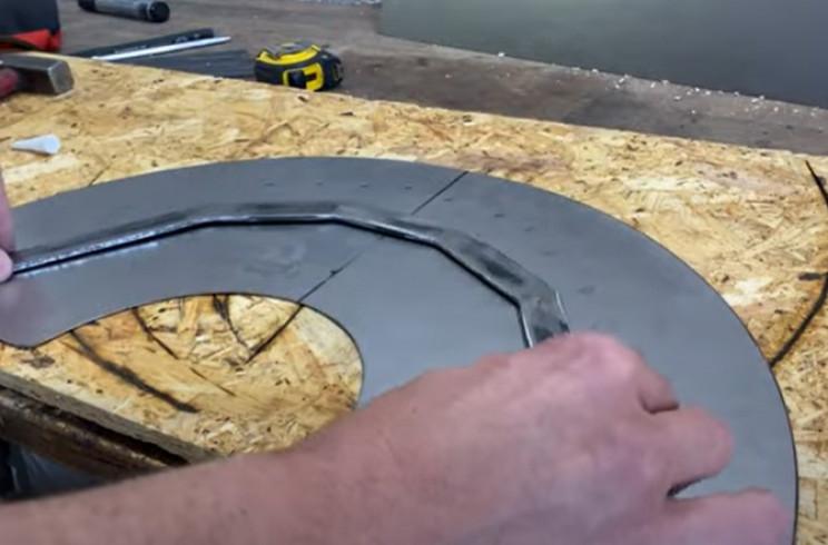metal hose holder glue arch