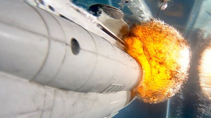 Watch a Model Submarine Explode In Super Slow Motion