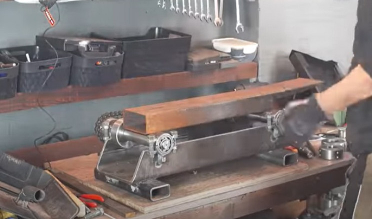diy electric pipe bender mount chain