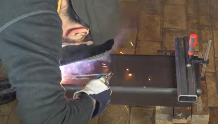 diy electric pipe bender weld feet
