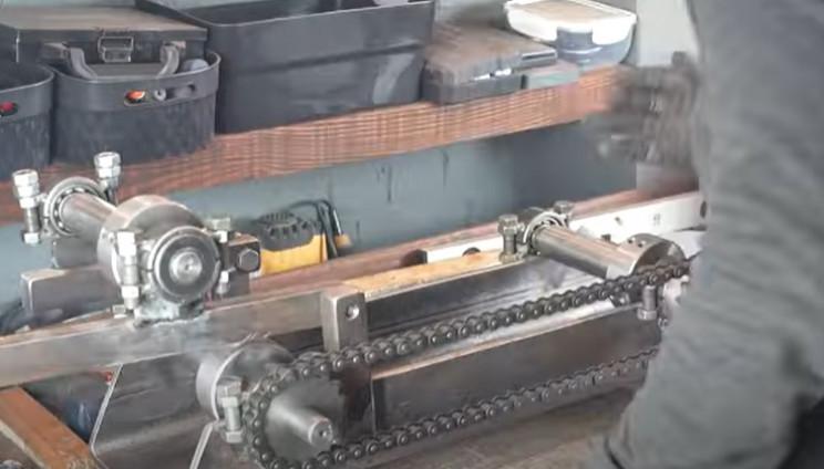 diy electri pipe bender adjustable roller