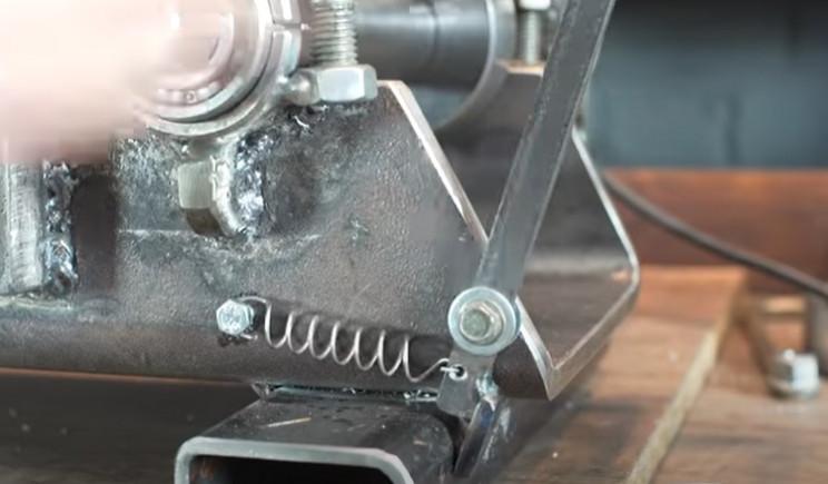 diy pipe bender machine lever
