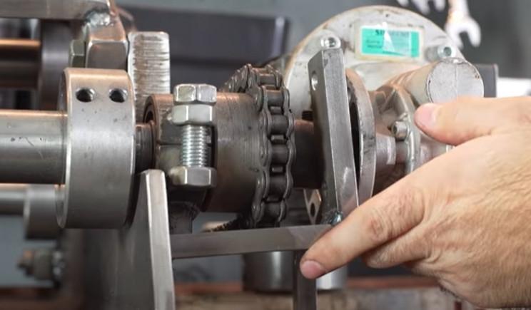 diy electric pipe bender motor brackets