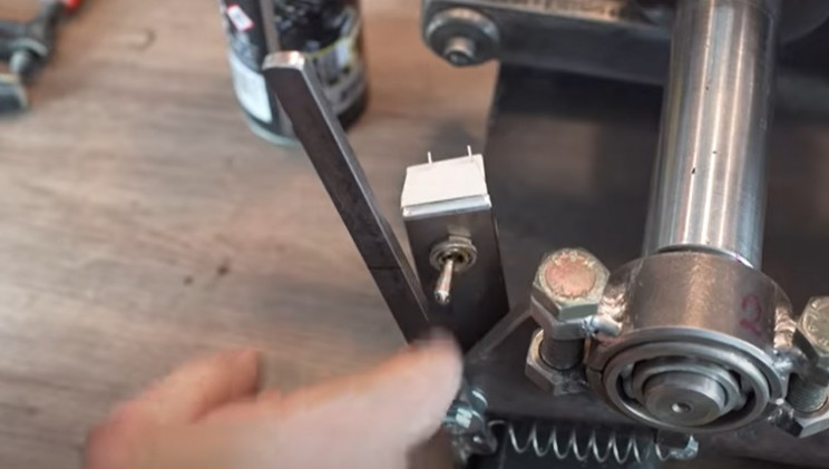 diy electric pipe bender off swtich