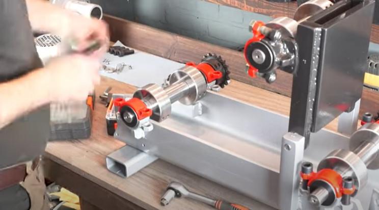 diy electrical pipe bender reassemble
