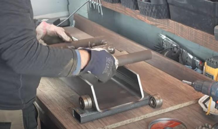 diy electric pipe bender rollers
