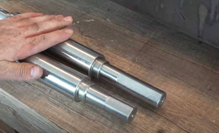 diy electric pipe roller route rods