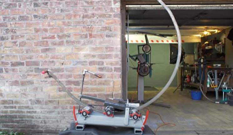 diy electrical pipe bender test