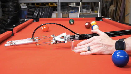 Over-Engineered Pool Stick Makes Losing Impossible