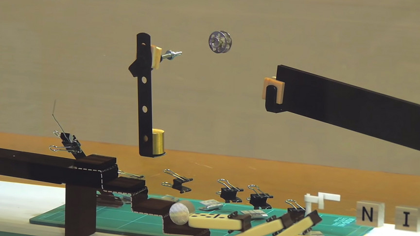 Watch Objects Disappear Underwater in This Rube Goldberg Machine