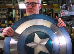 Former Mythbuster Adam Savage Upgrades a Captain America Shield