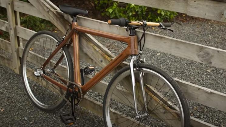 diy wooden bike complete