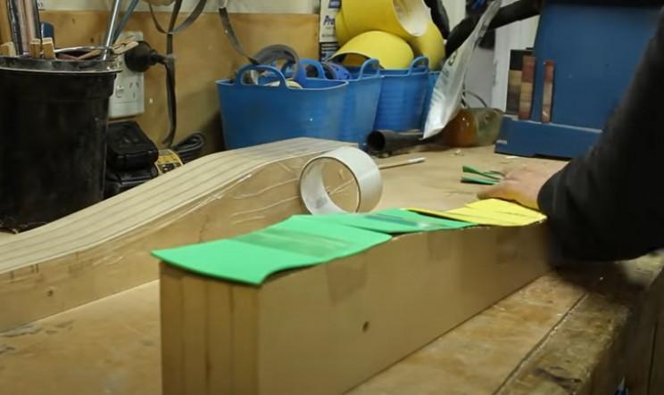 diy wood bike prepare molds