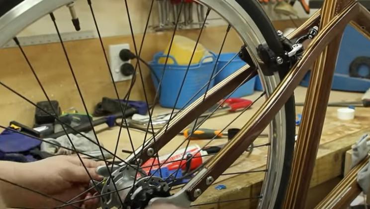 diy wooden bike rear wheel