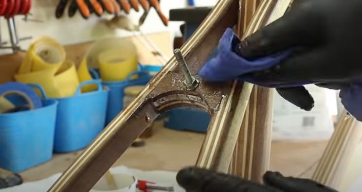 diy wooden bike rear mounting bracket