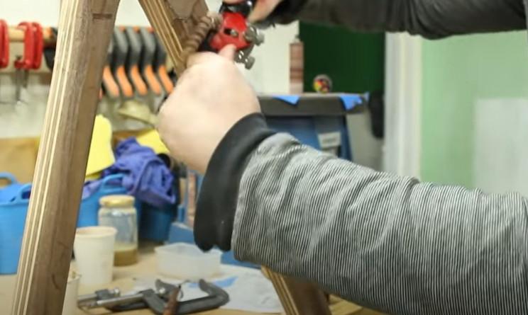diy wooden bike shape frame