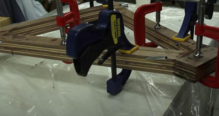 diy wooden bike frame secured