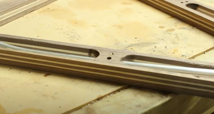 diy wooden bike reinforcement bars