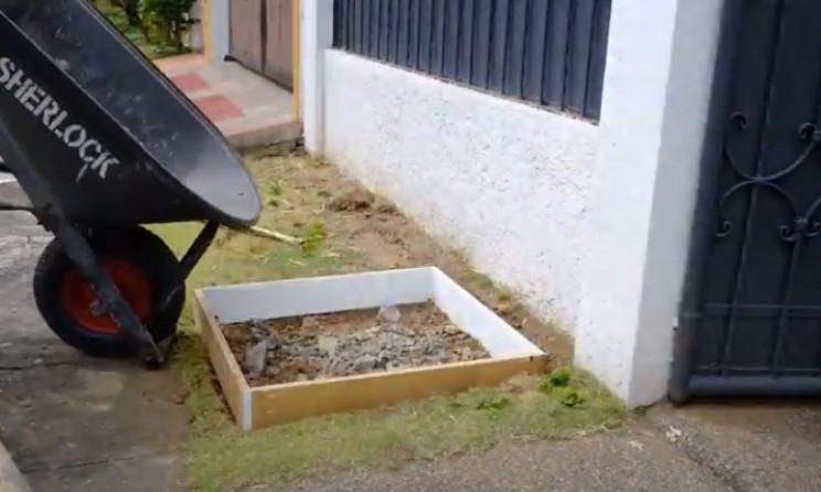 diy post box foundation