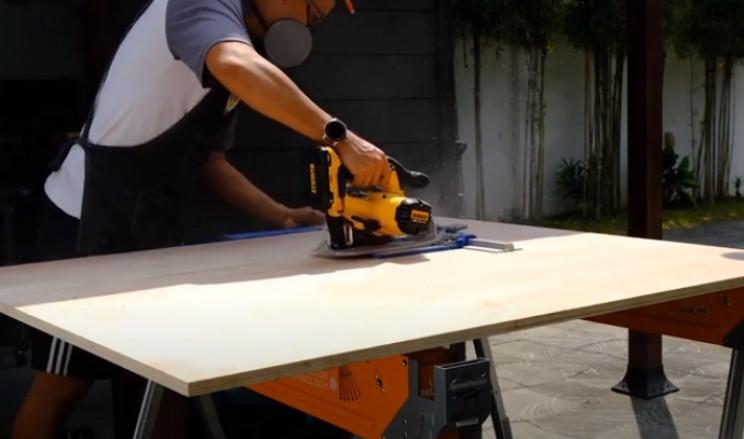diy drop box cut timber to size