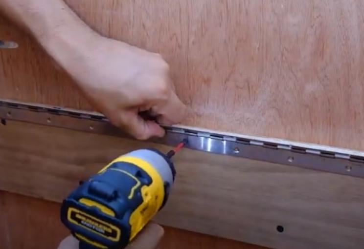 diy drop box mount hinge