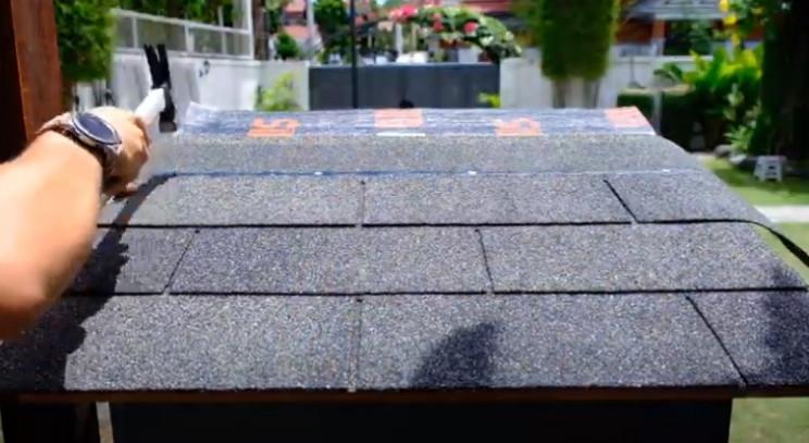 diy drop box roofing felt