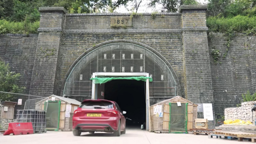 The Old Railway Tunnel Transformed Into a Wind Tunnel for F1 Cars