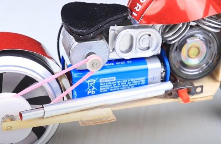 diy toy bike exhaust pipe