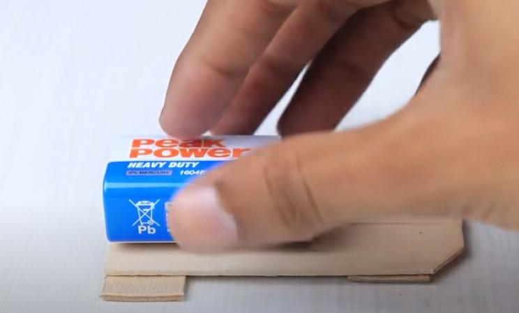 diy toy bike glue battery