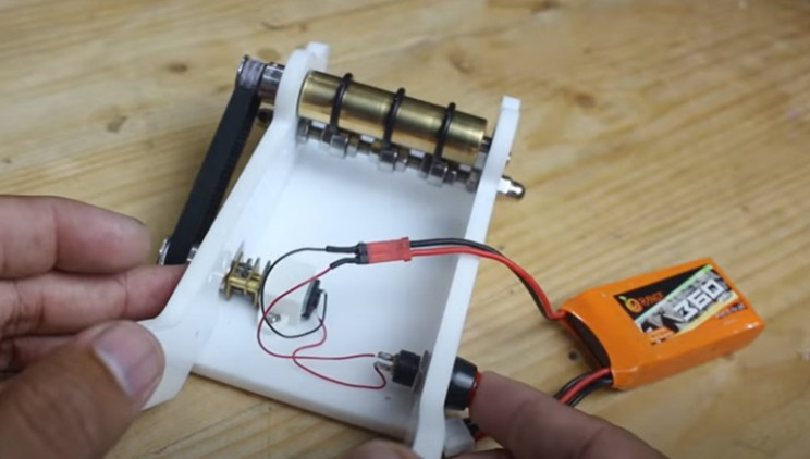 motorized notepad wiring