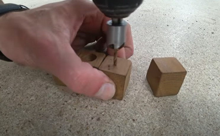 diy footstool countersink feet