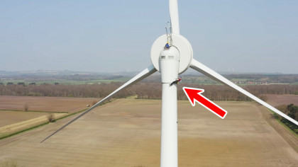YouTuber Takes the Emergency Exit From a 164-Feet Wind Turbine