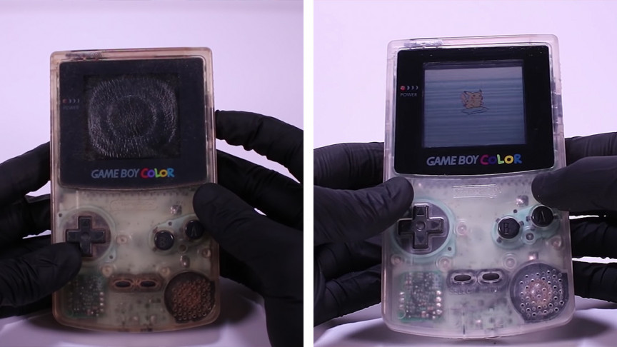"YouTuber Restores 1998 Model Junk ""Game Boy Color"" Back to Its Glory Days"