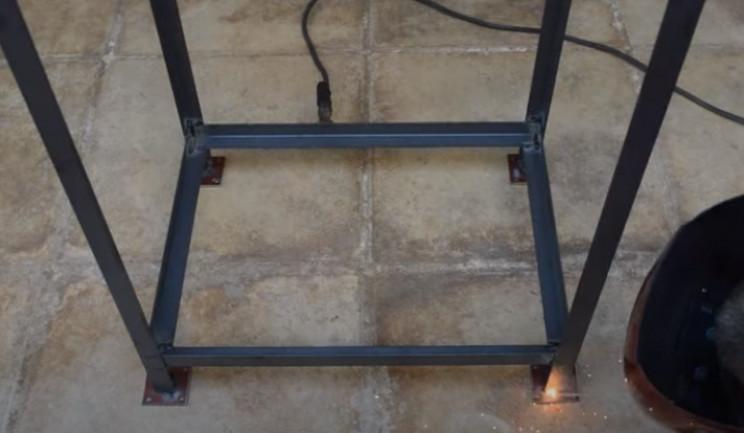 diy grill frame caster plates