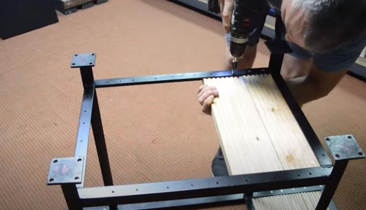 diy grill base wood
