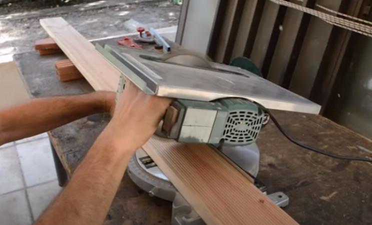 diy grill cut wood